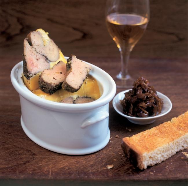 31 spice-crusted foie gras