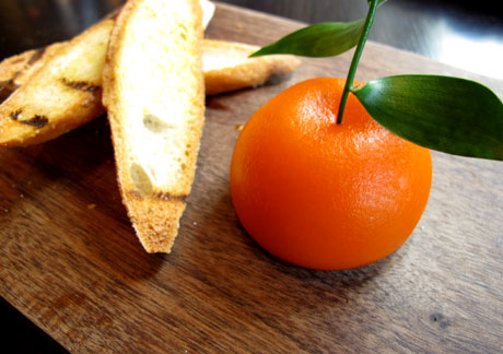 Meat fruit at Dinner by Heston Blumenthal, London