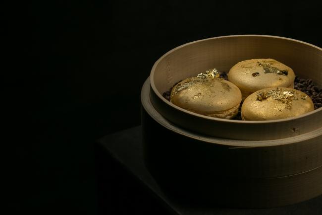 Golden Macarons Hakkasan