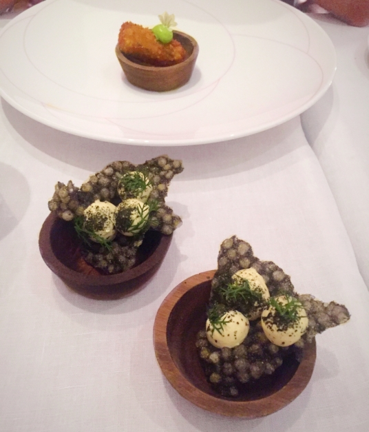 Croquette & Taramasalata Squid Crisp Pied a terre