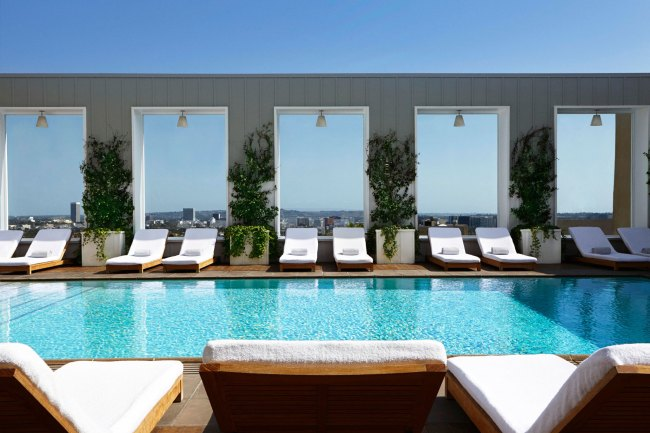 Mondrian Los Angeles West Hollywood Pool Day