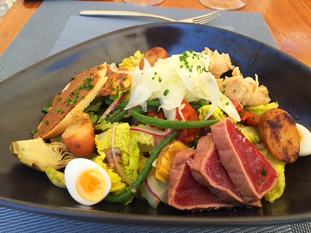 Blue Marlin Ibiza Seared Tuna Nicoise Salad - Image Gin and Bone