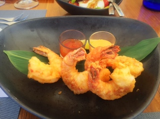 Blue Marlin Ibiza Tempura Prawns - Image Gin and Bone