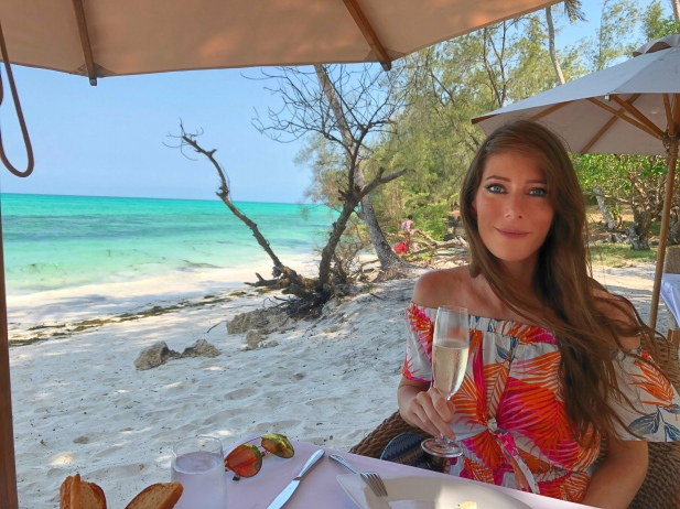 Private Champagne Beach Lunch Tulia Zanzibar Africa