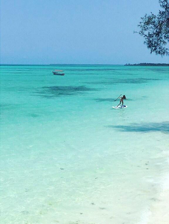 Paddleboarding Tulia Zanzibar Beach