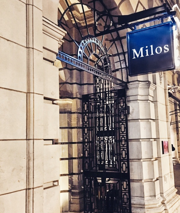 Milos entrance - Estiatorio Milos - London - Greek Food