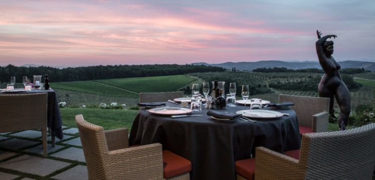8. LA TAVERNA TUSCAN RESTAURANT by the pool dinner