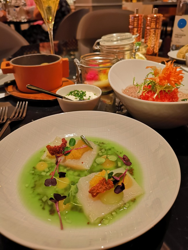 Matjes style whitefish - green apple, cucumber - POTS Restaurant - Ritz Carlton Berlin