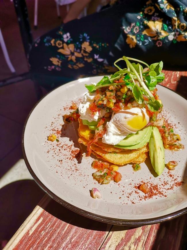 La Lacustre - PizzaLa Lacustre - Corn Fritters and Eggs Avocado